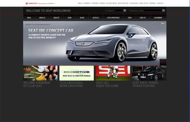 car web page design - SEAT