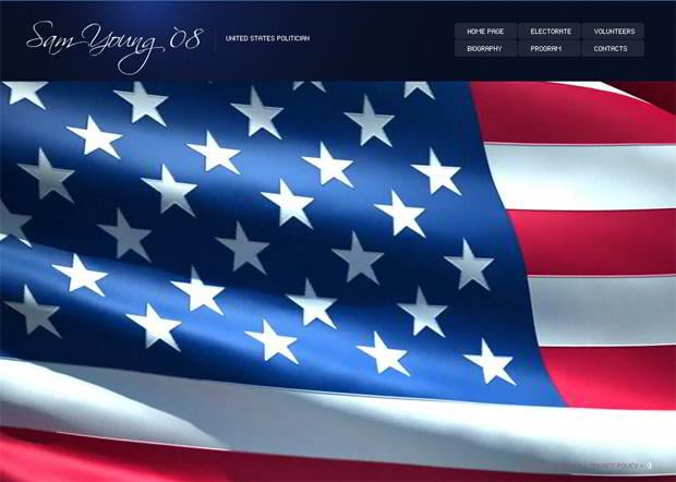 Pictures flag in web designs - Sam Young