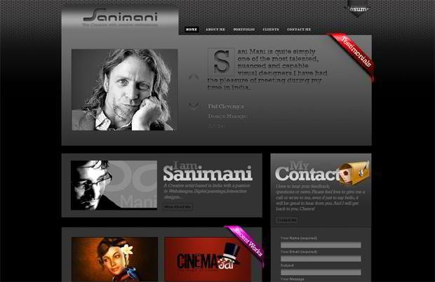 portfolio web design - Sanimani.com