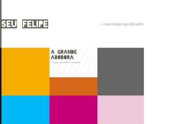 wordpress portfolio website design - Seufelipe.com.br