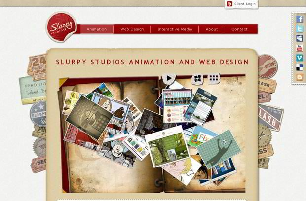 wordpress portfolio design - Slurpystudios.com