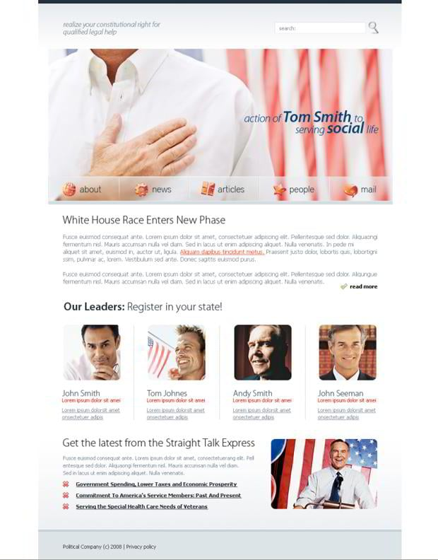 Web designs with flag images - Social Life