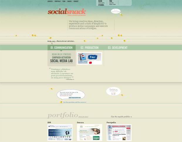 wordpress portfolio design - Socialsnack.com
