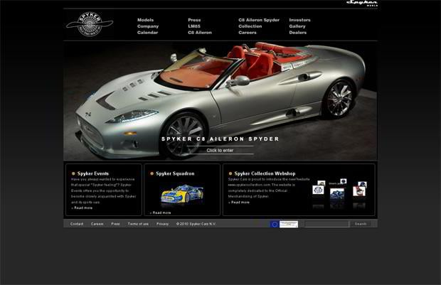 car web design - Spykercars