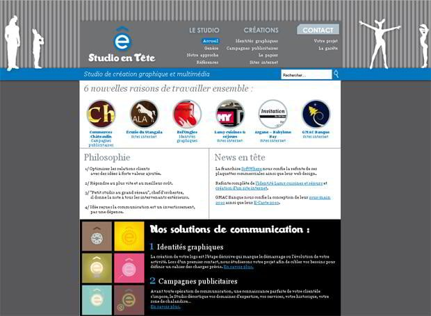 wordpress portfolio web design - Studioentete.com