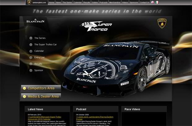 car web design theme - Supertrofeo