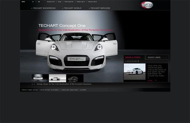 car website - TECHART