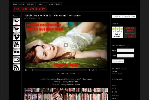 wordpress design video blog - Thebuibrothers.com