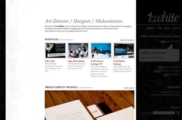 portfolio wordpress website - Thisistwhite.com
