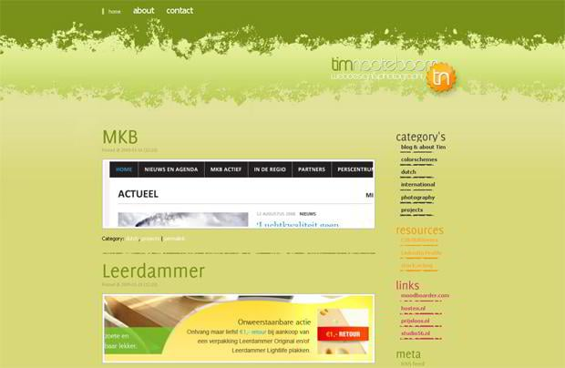 portfolio wordpress website - Timnooteboom.nl