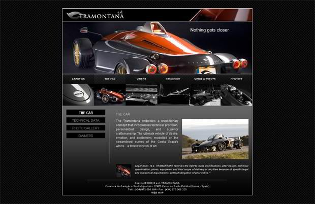 car website design - Tramontana