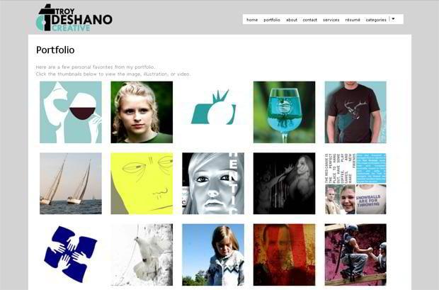 wordpress portfolio design - Troydeshano.com