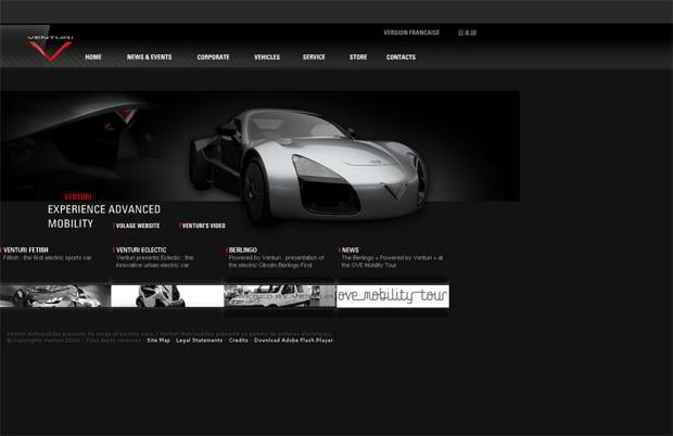 car website design - Venturi