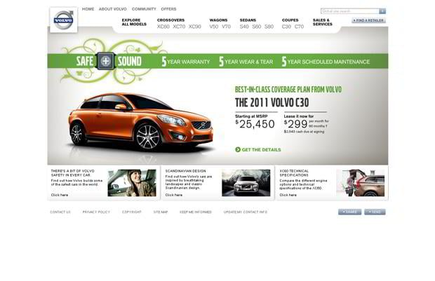 car website design - Volvo