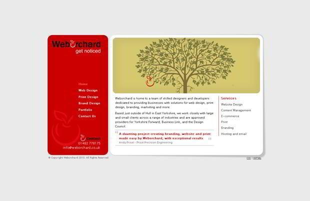 portfolio wordpress website - Weborchard.co.uk
