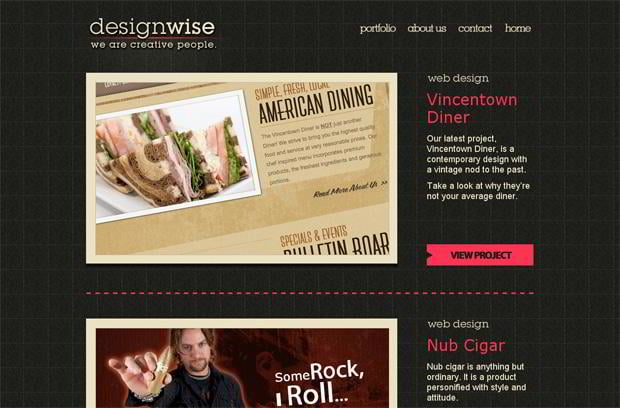 wordpress portfolio design - Wedesignwise.com