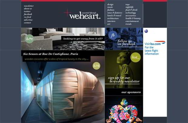 wordpress portfolio design - Weheart.co.uk