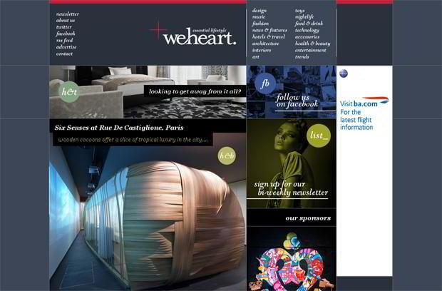 wordpress portfolio design - Weheart.co.uk
