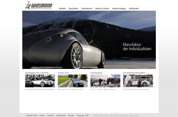 car website - Wiesmann