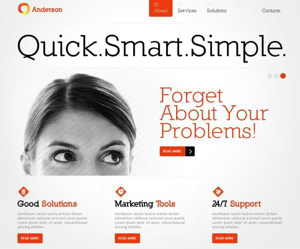 Anderson jQuery template