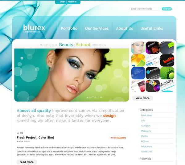 Bluerex jQuery template