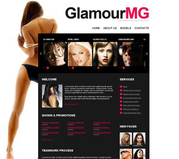 Glamour MG jQuery template