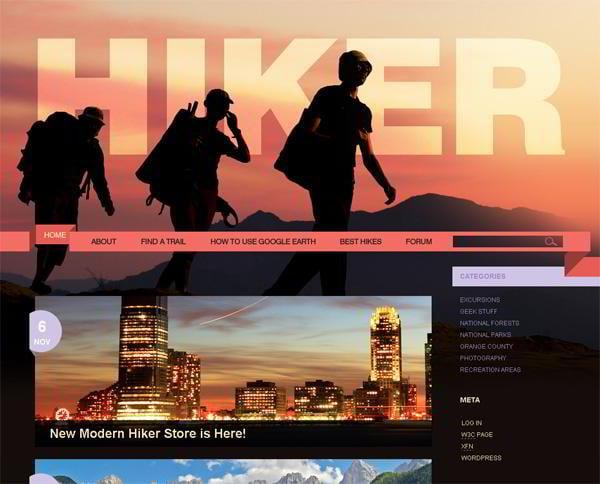Hiker jQuery template