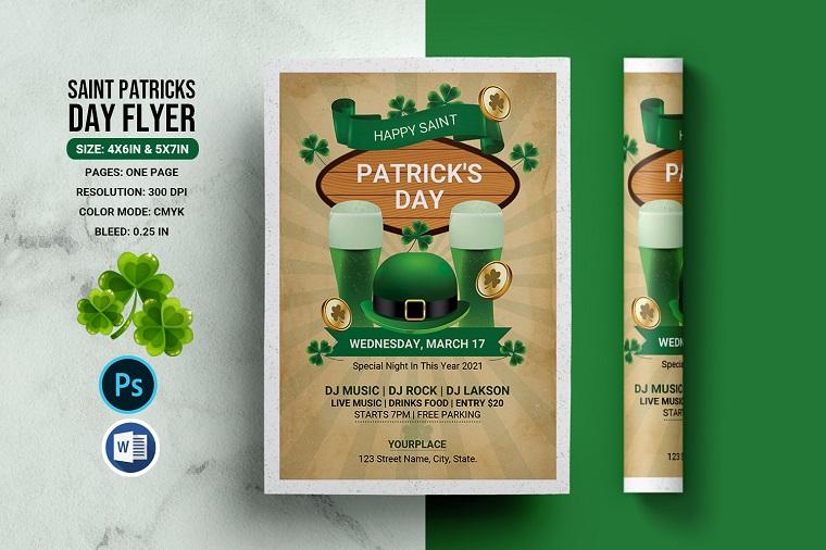 Saint Patricks Day Celebration Flyer Corporate Identity.