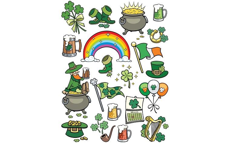 Saint Patrick's Day Elements Illustration.