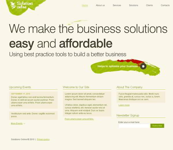 Solutions Online jQuery template