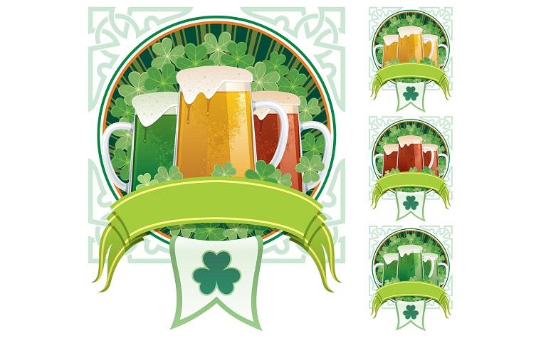 St. Patrick's Beer Illustration.