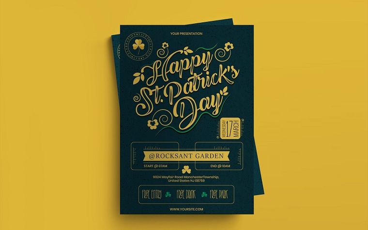 St.Patrick's Day Flyer Corporate Identity Template.