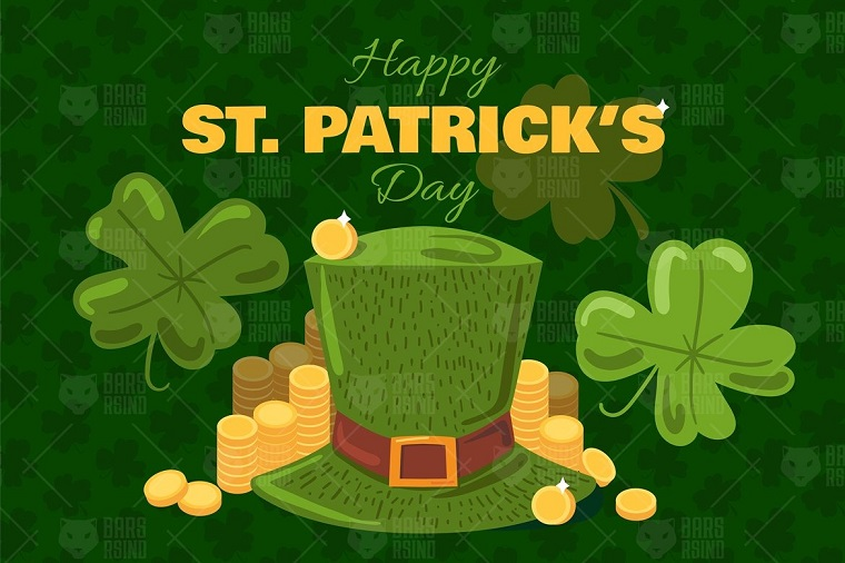 St. Patrick's Day Greeting Banner Corporate Identity Template.