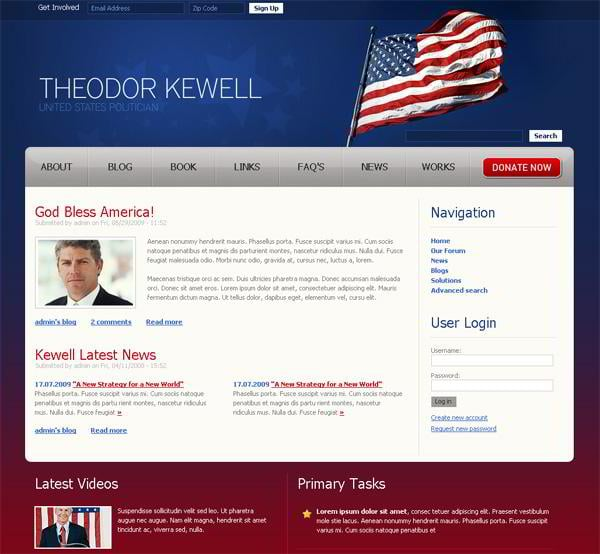 Theodor Kewell jQuery template