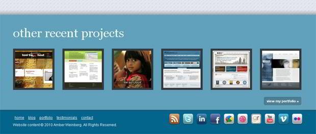 social icons web design - Amberweinberg.com