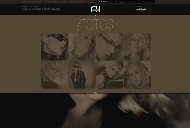 portfolio flash web design - Anahickmann.com.br