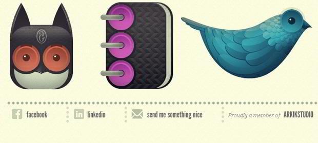 web design social icons - Andre-goncalves.com