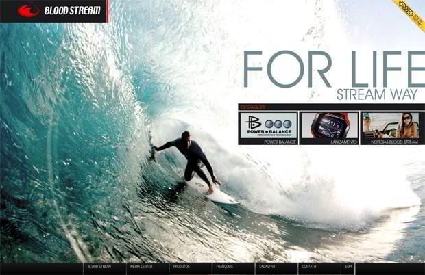 flash web design - Bloodstream.com.br