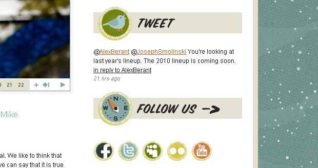 social icons design - Bumbershoot.org