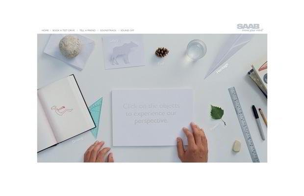 flash website design - Changeperspective.saab.com