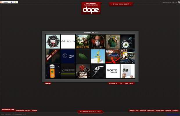 flash design - Dopeawards.com