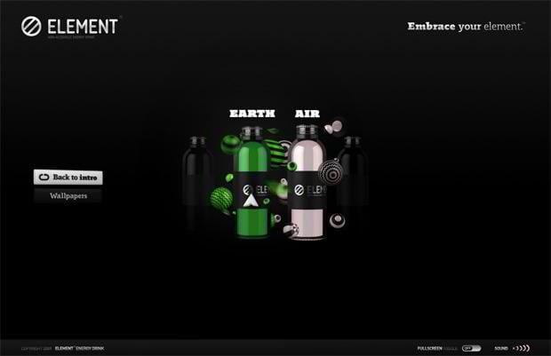 flash site - Embraceyourelement.com