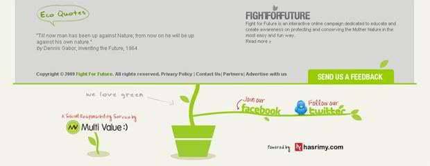 social networks section - Fightforfuture.org.sg