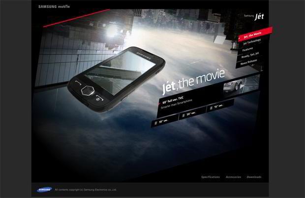 flash site design - Jet.samsungmobile.com