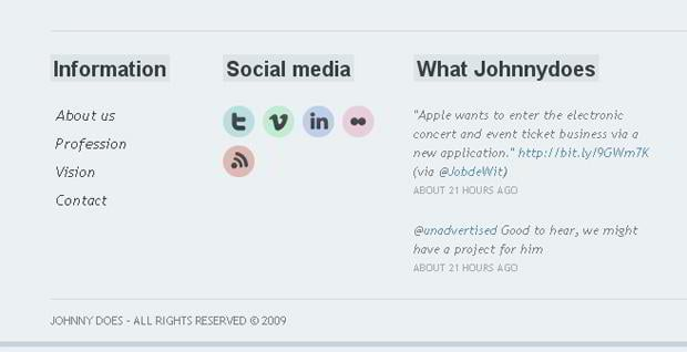 social icons design - Johnnydoes.nl