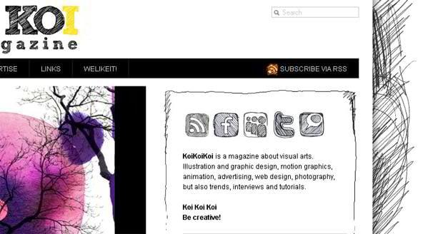 social icons design - Koikoikoi.com