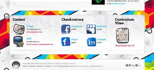 social icons design - Krcky.com