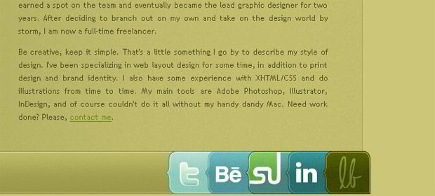 social icons design - Lisabun.com