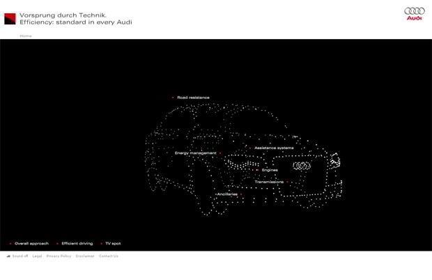 flash web design - Microsites.audi.com