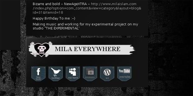 web design social icons - Milaislam.com